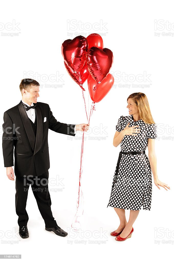 Balloon Bouquet Delivery royalty-free stock photo