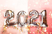 istock Balloon Bunting for celebration of New Year 2021 1196023058