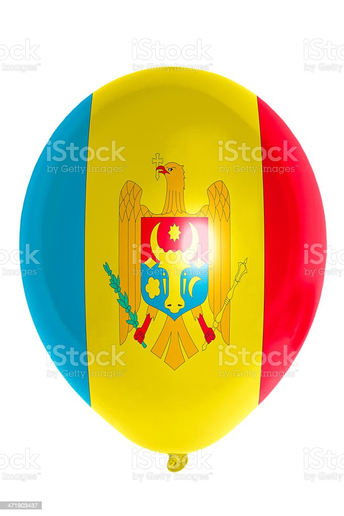 Balloon colored in national flag of moldova stock photo