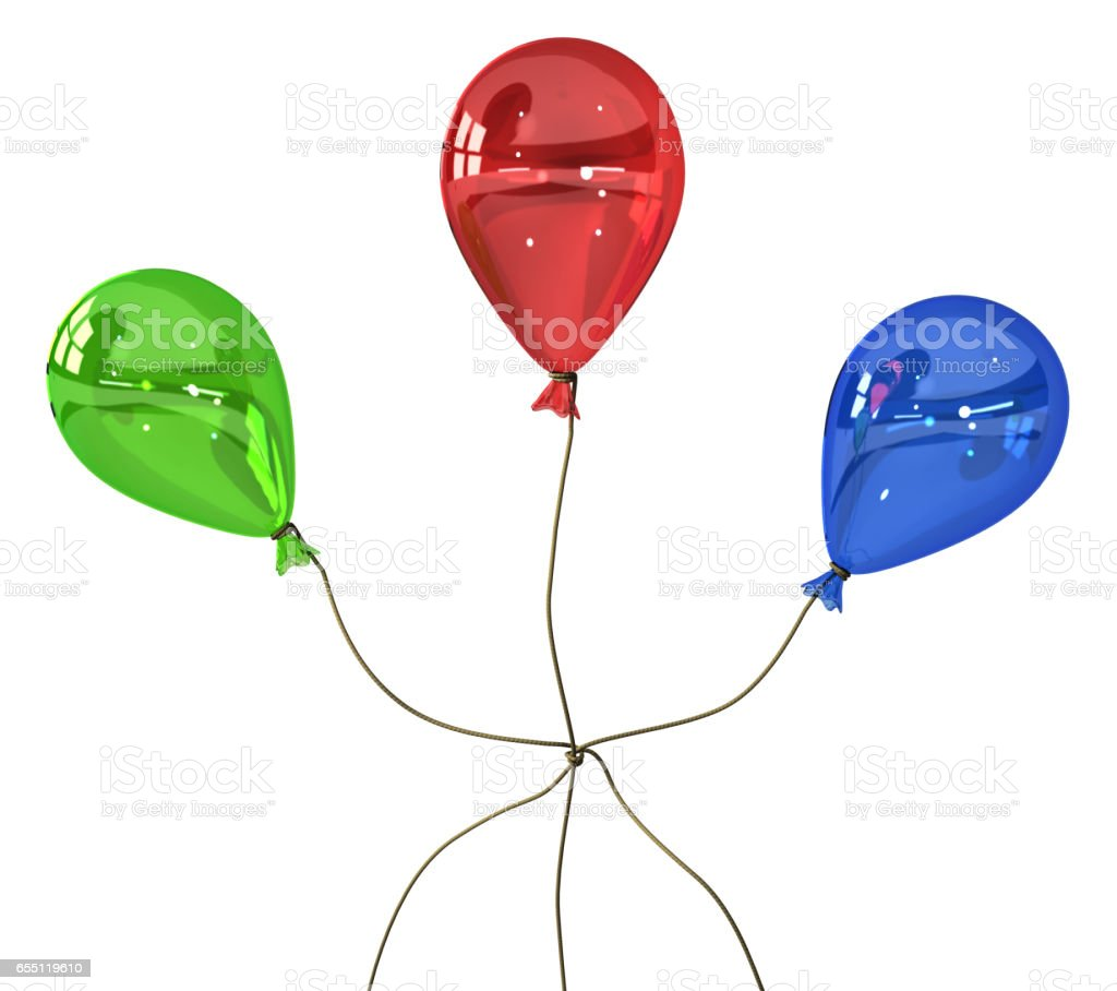 Balloon Colors Knot stock photo