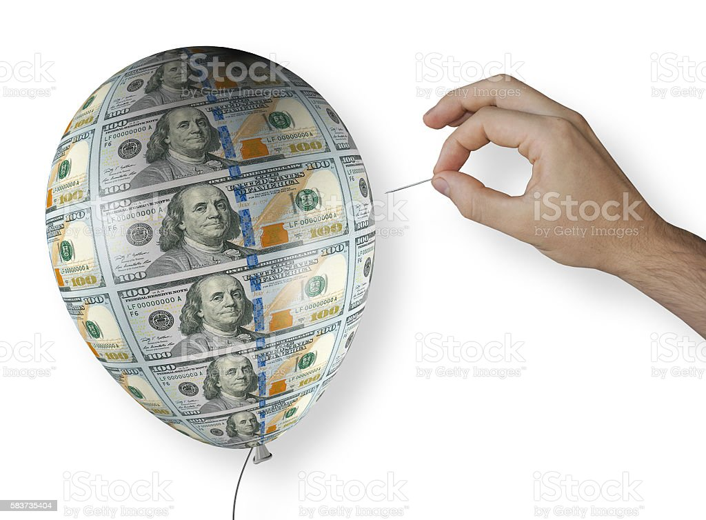 balloon dollar stock photo