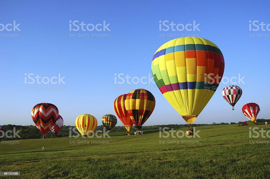 balloon field royalty-free stock photo