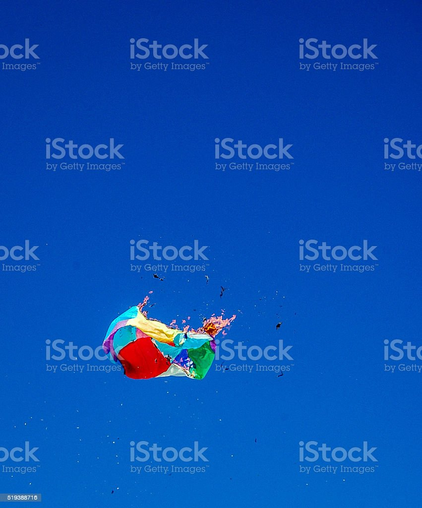Balloon fire stock photo