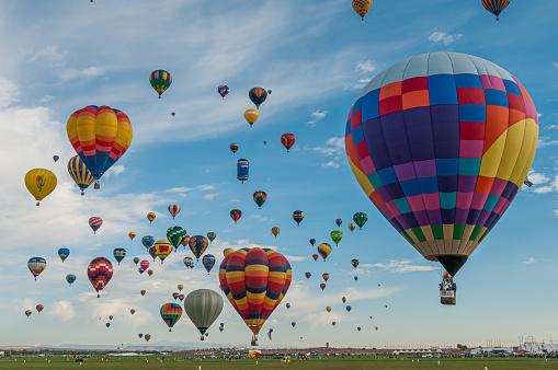 Balloon Launch at the Albuquerque International Balloon Fiesta in Albuquerque, New Mexico.