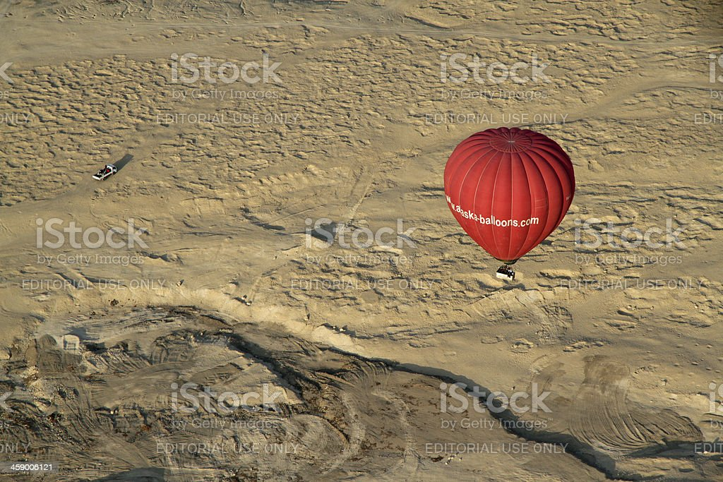 Balloon Floating over Valley of the Kings royalty-free stock photo