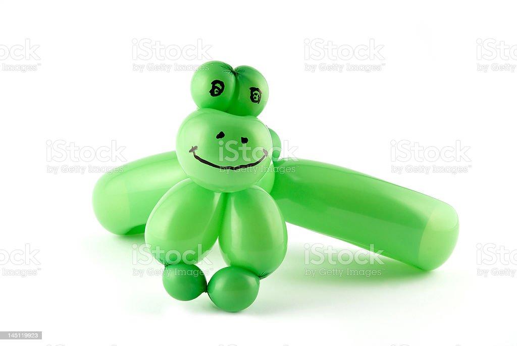 Balloon frog stock photo