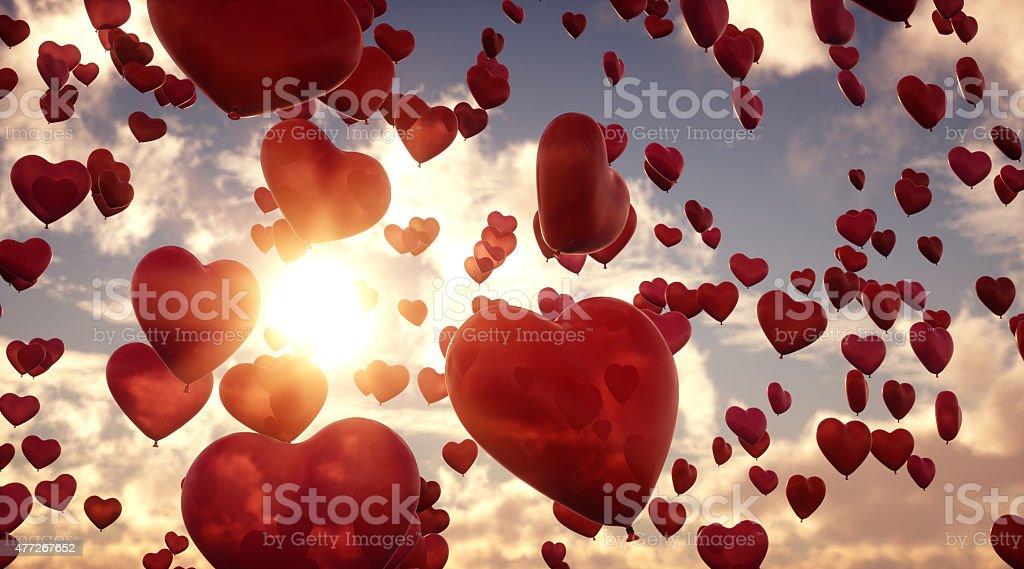 Palloncini cuore A11 - foto stock