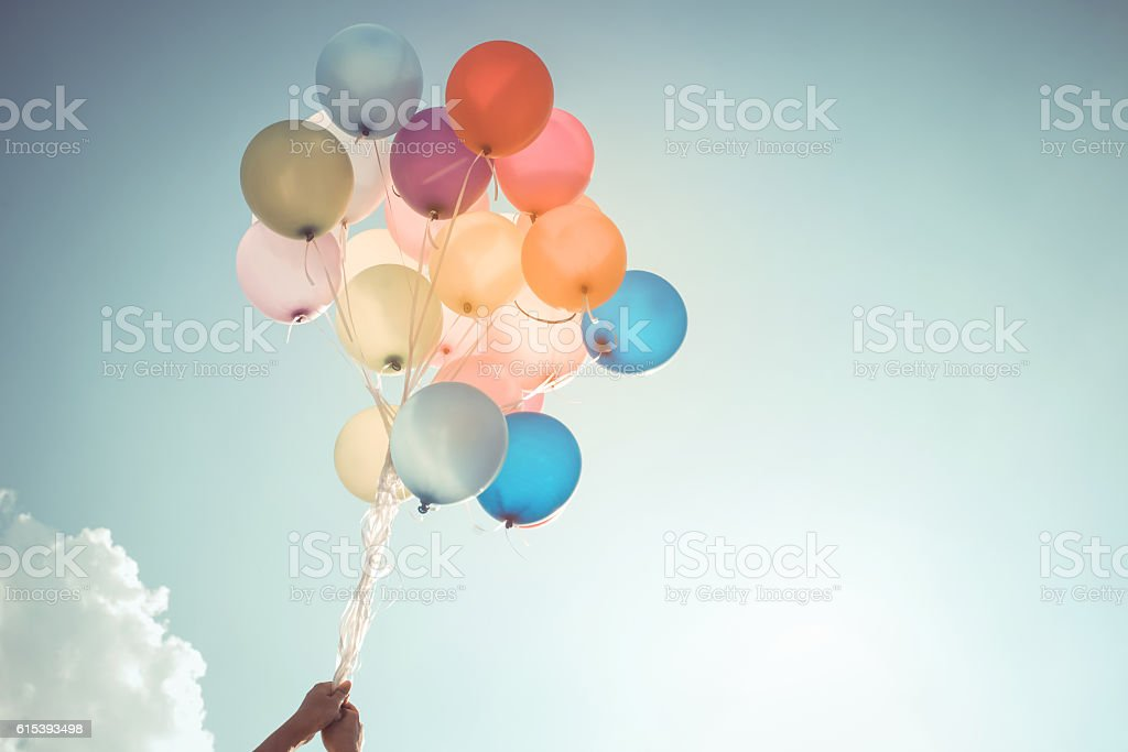 balloon in party stock photo