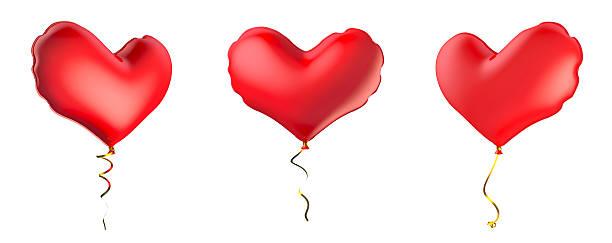 Ballons in Form von Ein Herz. – Foto