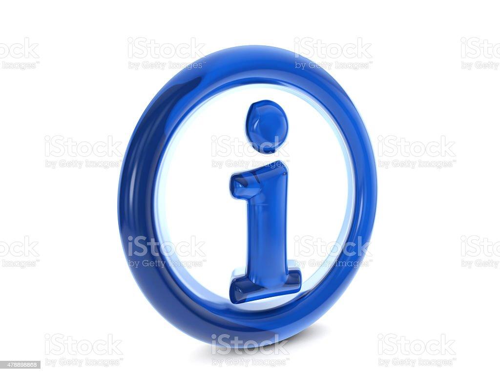 balloon info symbol stock photo
