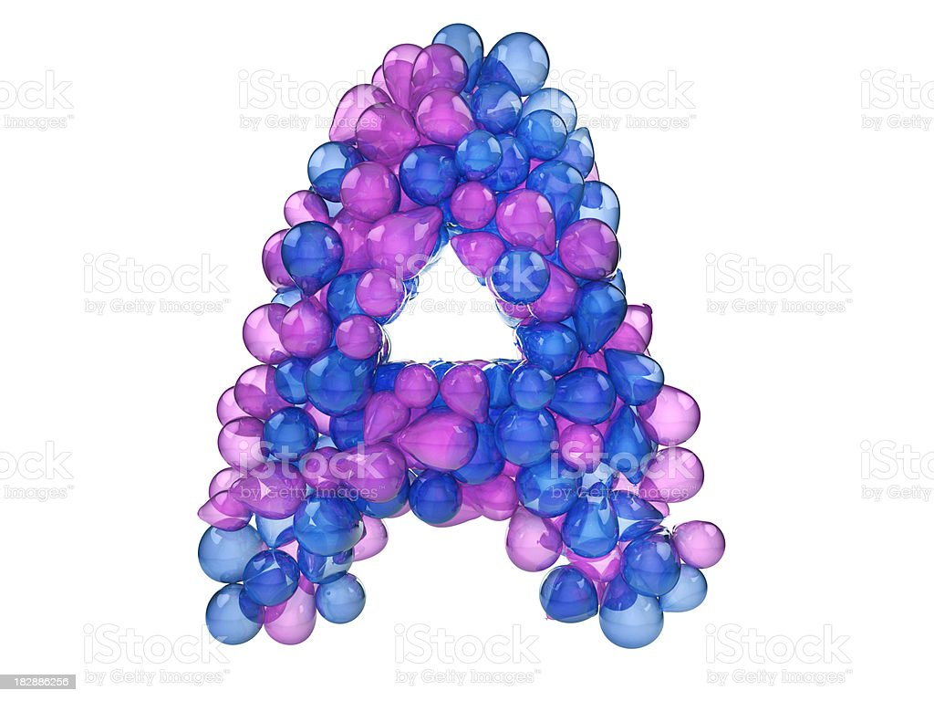 Balloon Letter A royalty-free stock photo