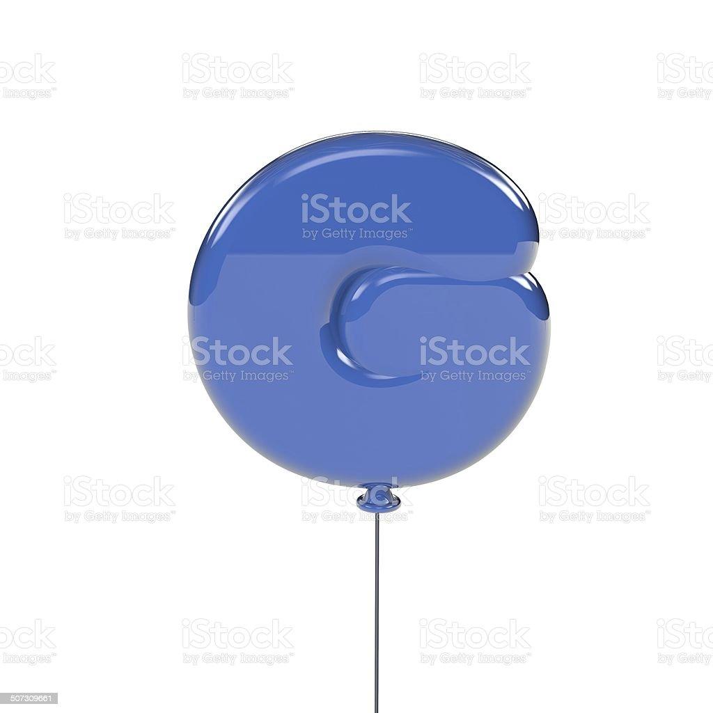Balloon letter stock photo