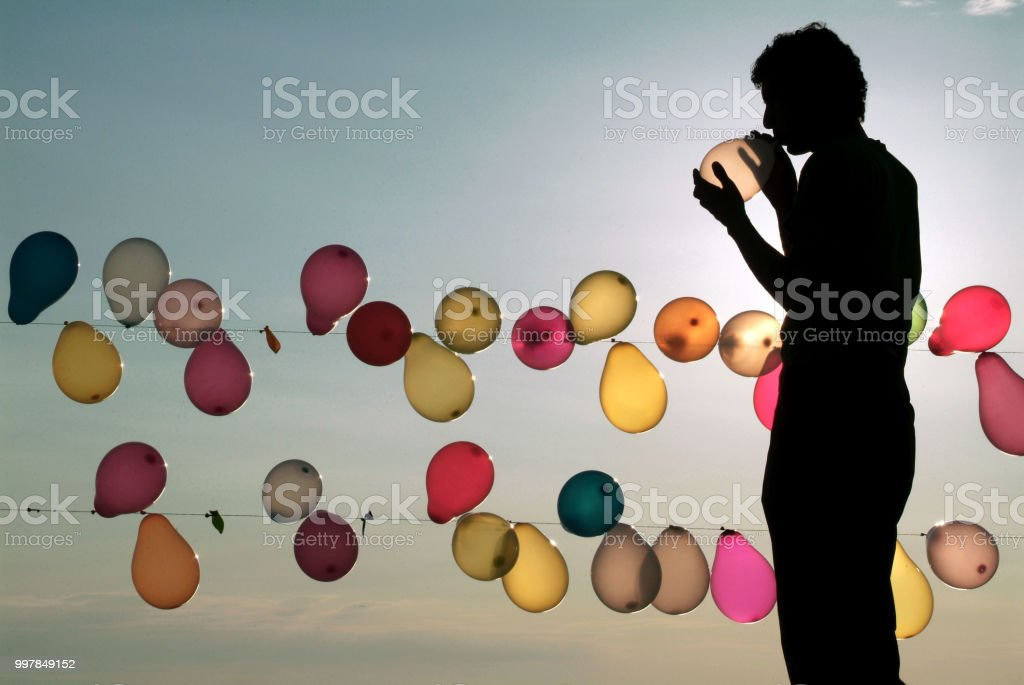 Balloon Man stock photo