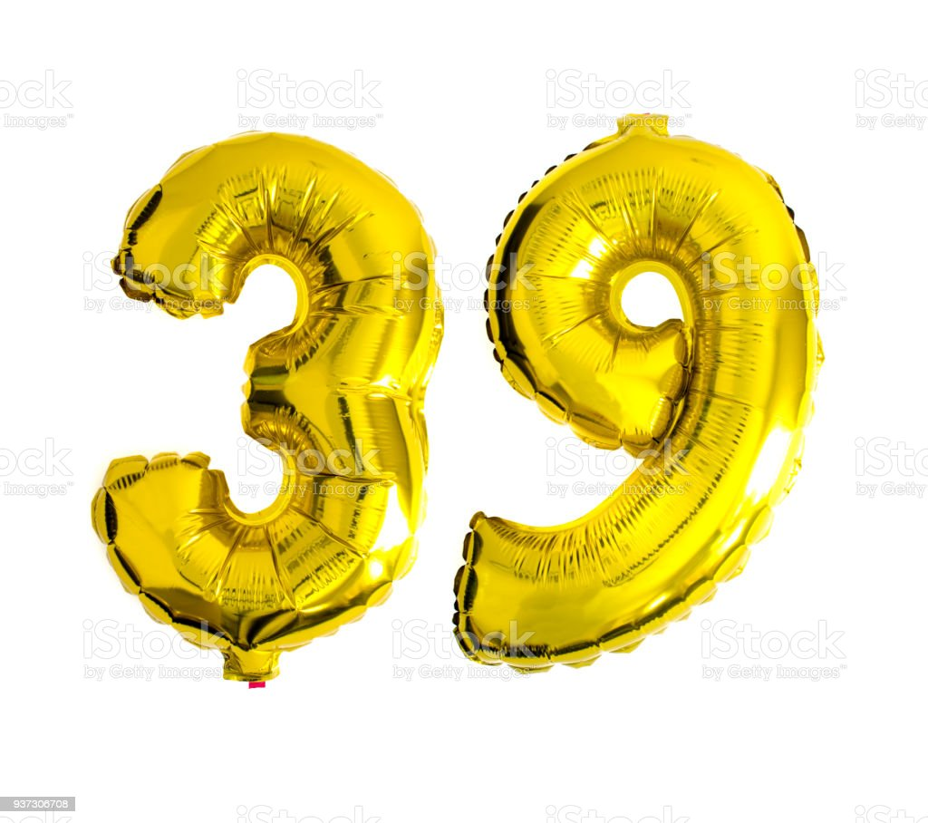 Balloon Numbers Isolated On White Background With Copy Space Stock Baloon Number Royalty Free Photo