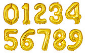 Balloon Numbers isolated on a white background