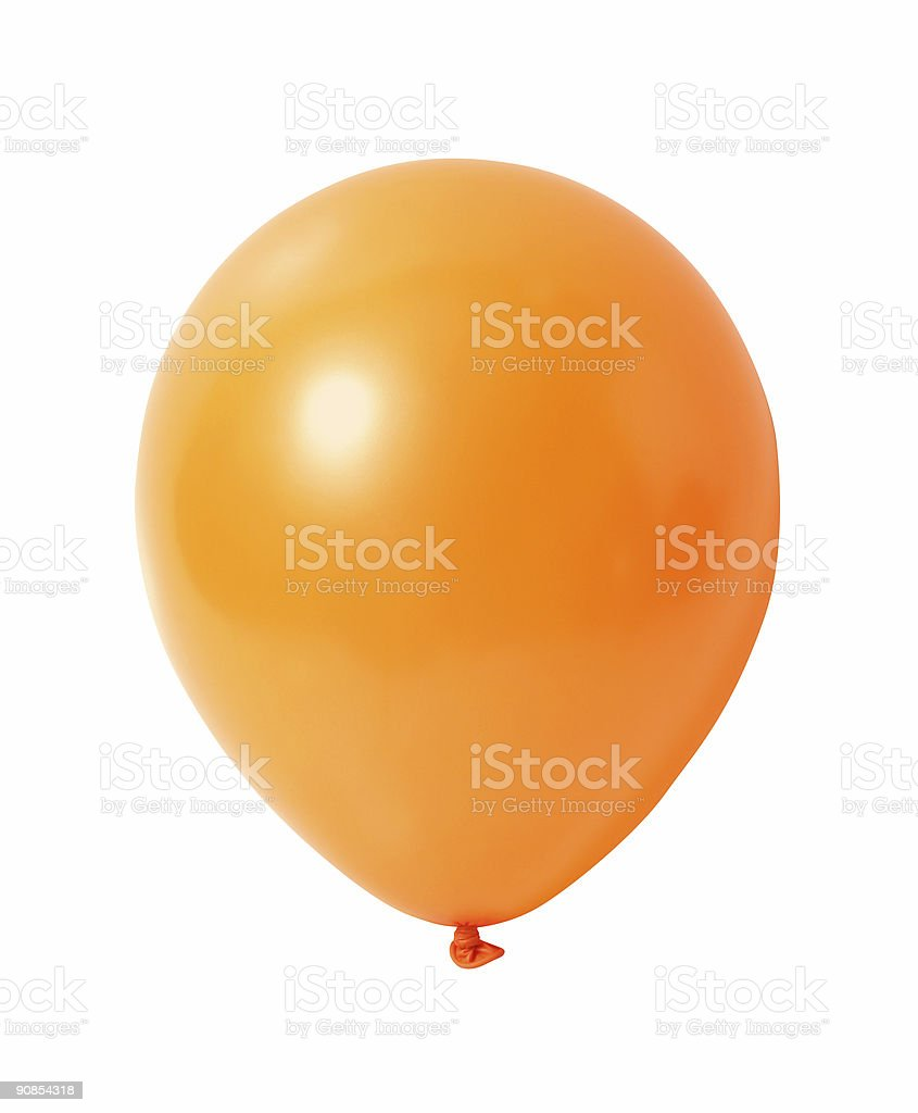 Balloon on white with path royalty-free stock photo