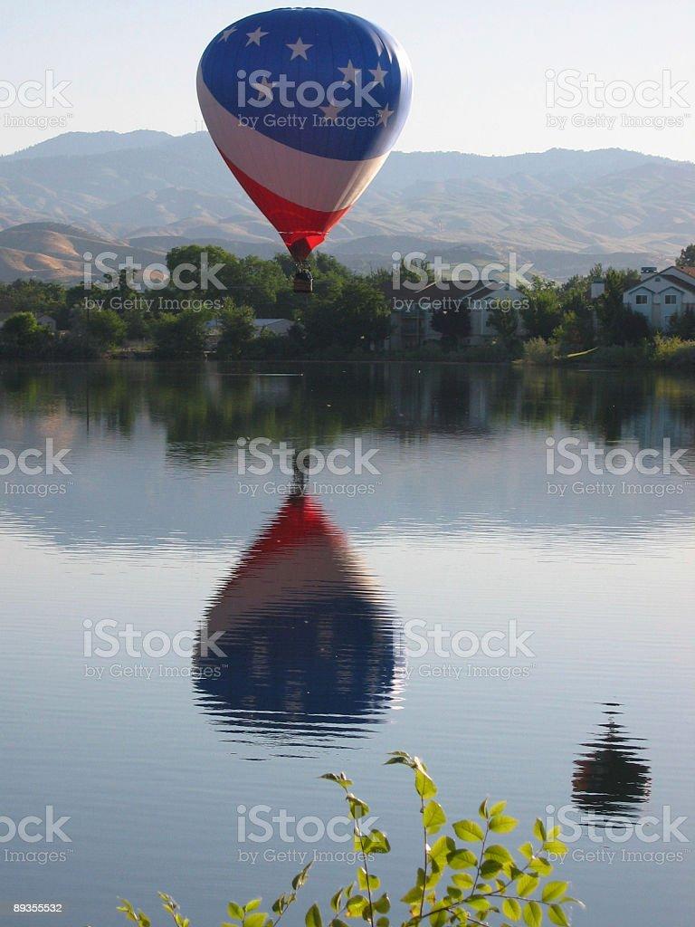 USA Balloon over Boise Idaho royaltyfri bildbanksbilder