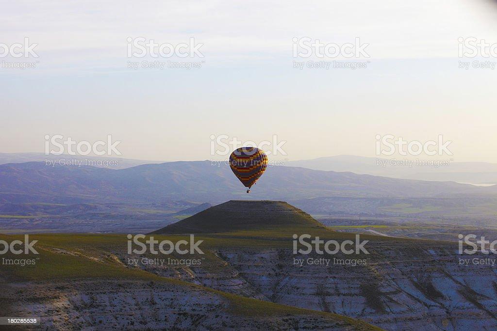 Balloon Over Fairy Chimneys royalty-free stock photo