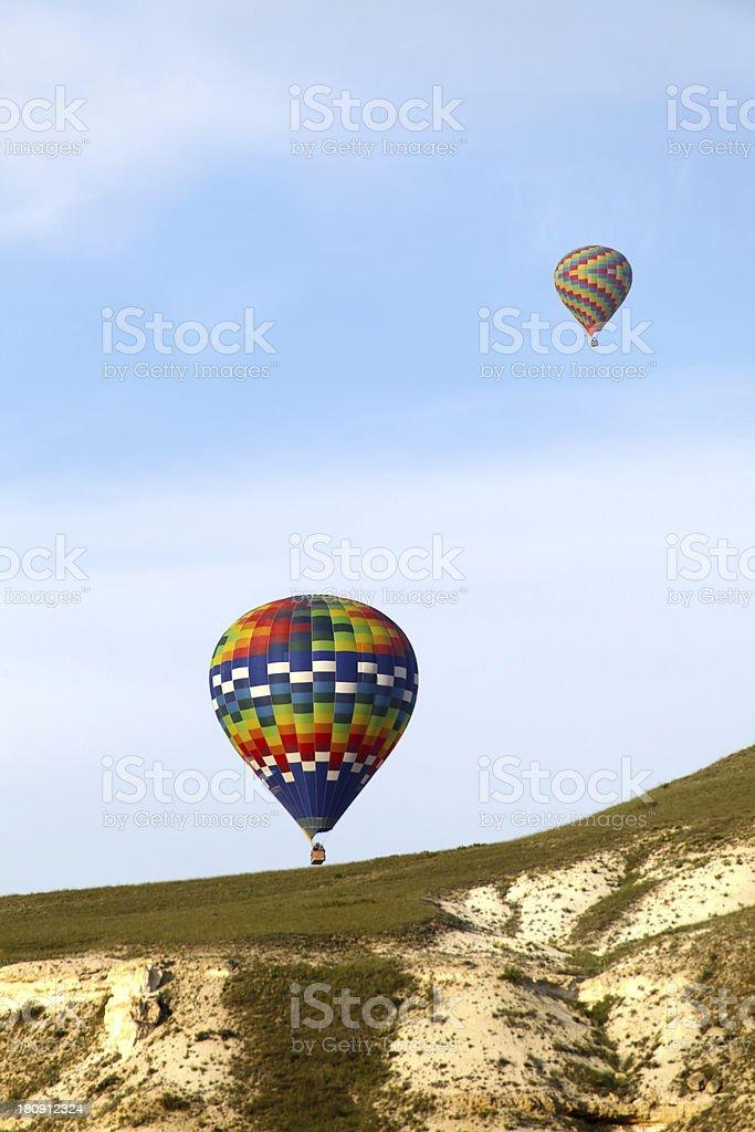 Balloon Over Fairy Chimneys stock photo