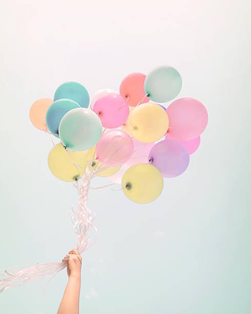 balloon pastel ストックフォト