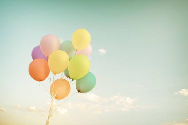 balloon pastel stock photo