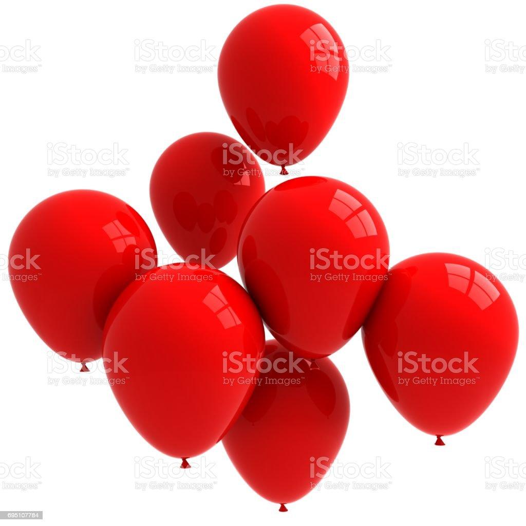 Balloon red birthday isolated white background stock photo