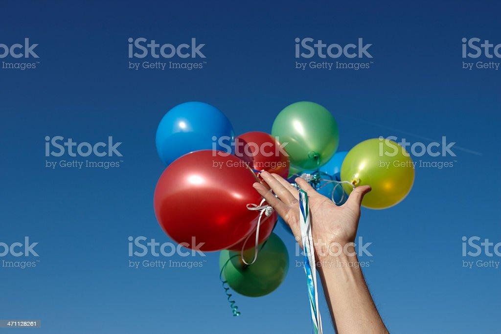 Balloon Release stock photo