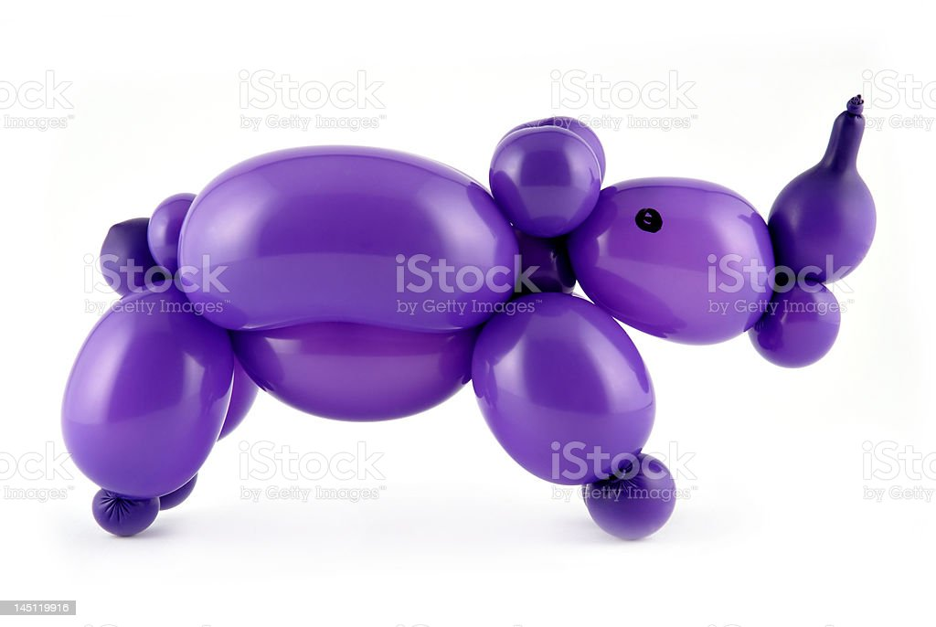 Balloon rhino stock photo