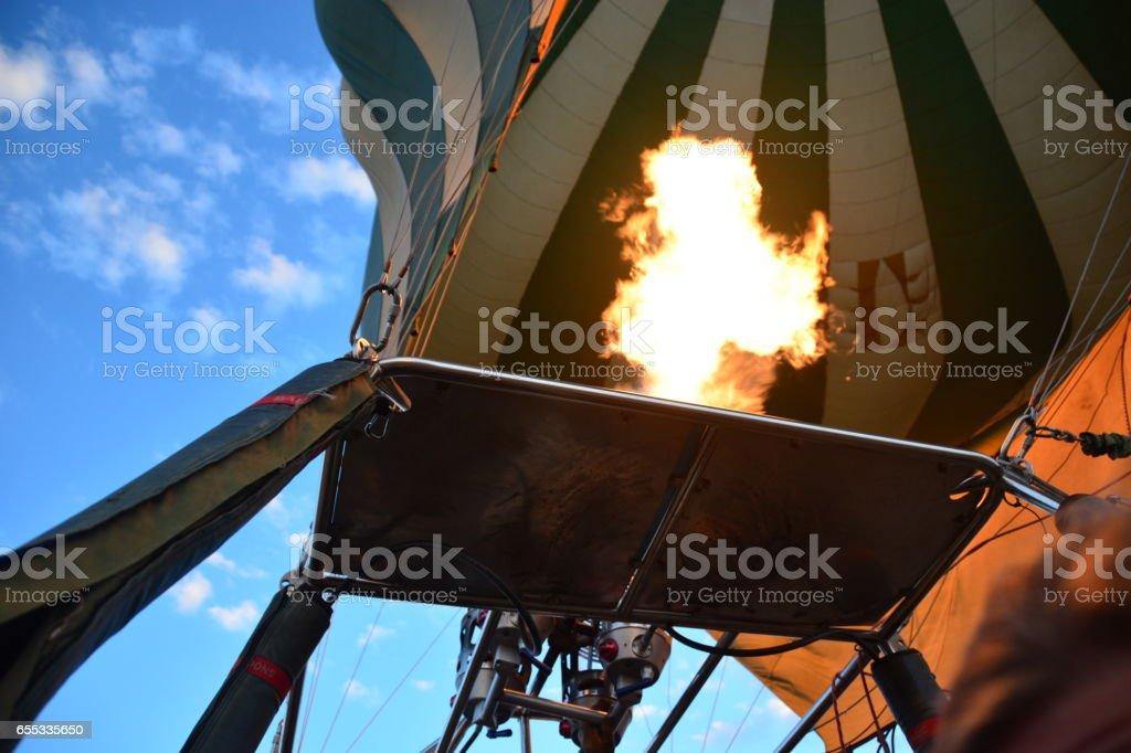 Balloon safari Africa stock photo