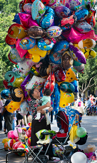 Balloon Seller at the Día de los Muertos Festival in Oaxaca