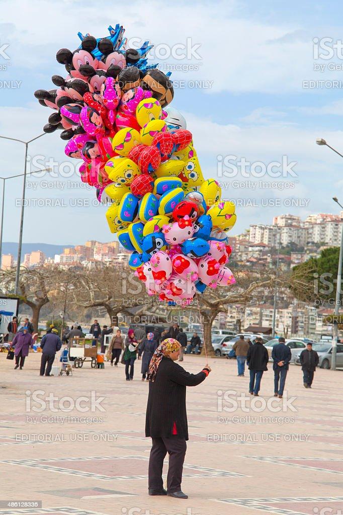 Vendedor de Balão - foto de acervo