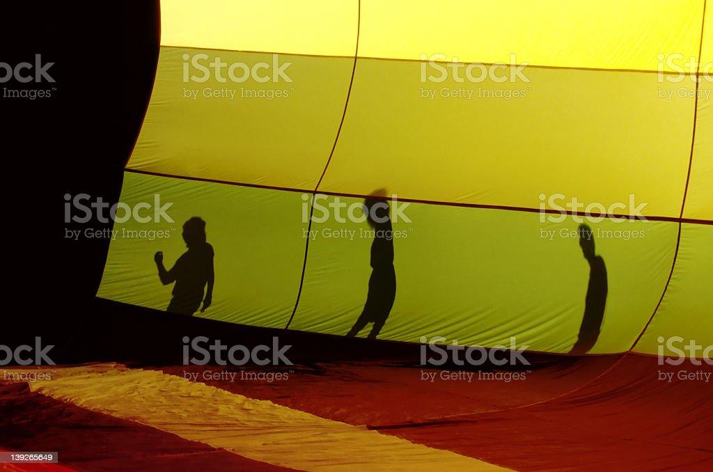 Balloon Shadows royalty-free stock photo