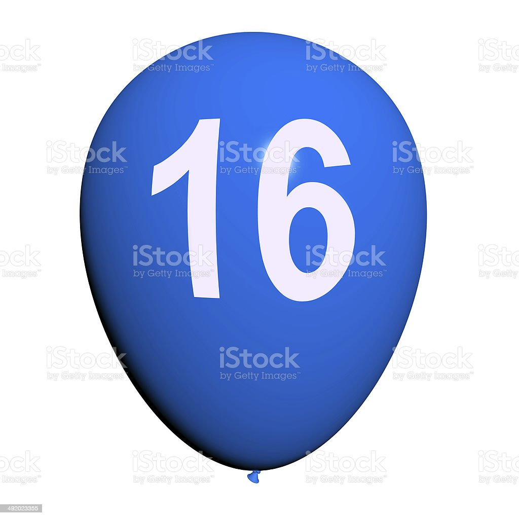 16 balão mostra Sweet Sixteen festa de aniversário - foto de acervo