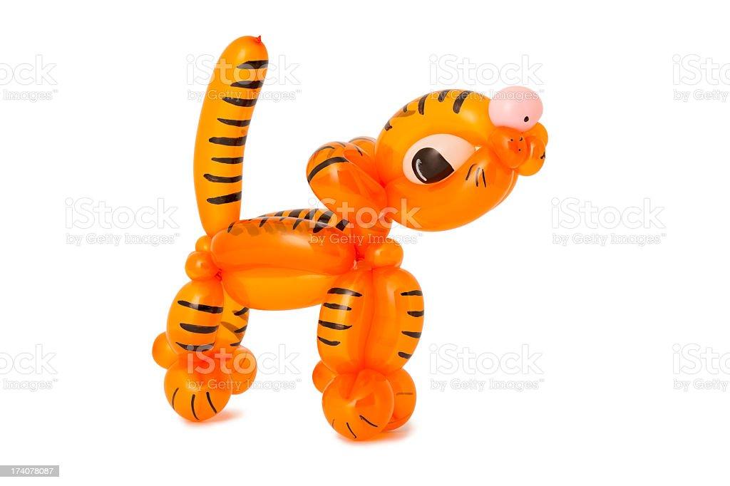Balloon tiger stock photo