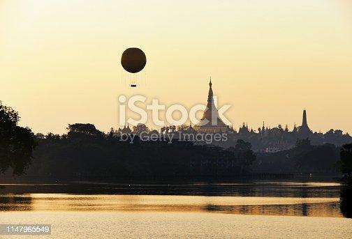 1035636416 istock photo Balloon tour on Shwedagon 1147965549