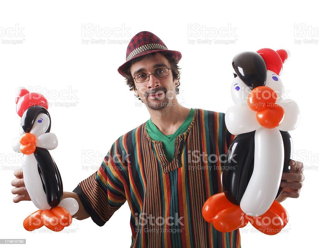 Balloon twister stock photo