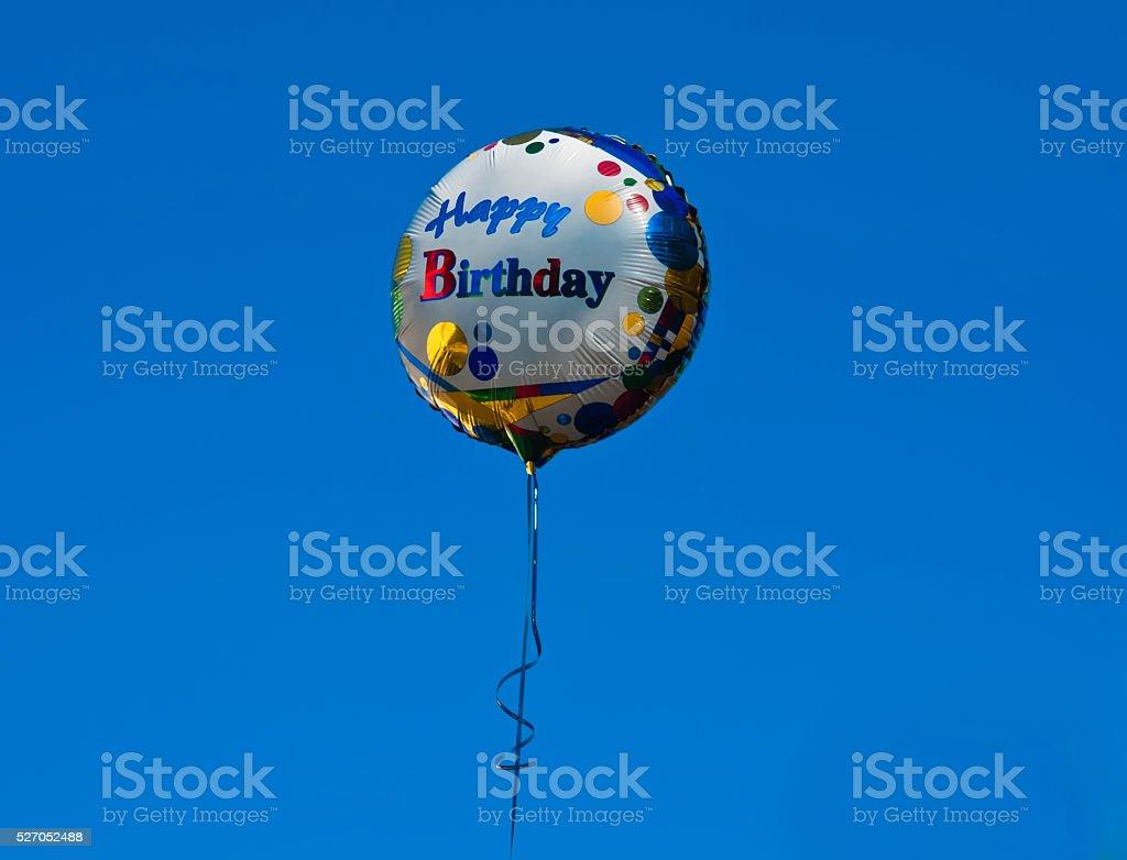 Balloon with Happy Birthday stock photo