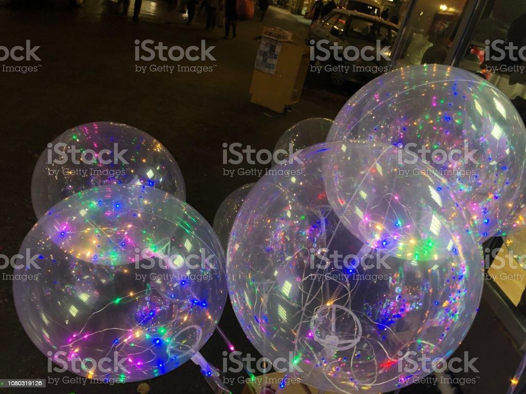 Balloon,Christmas,Light,Color stock photo