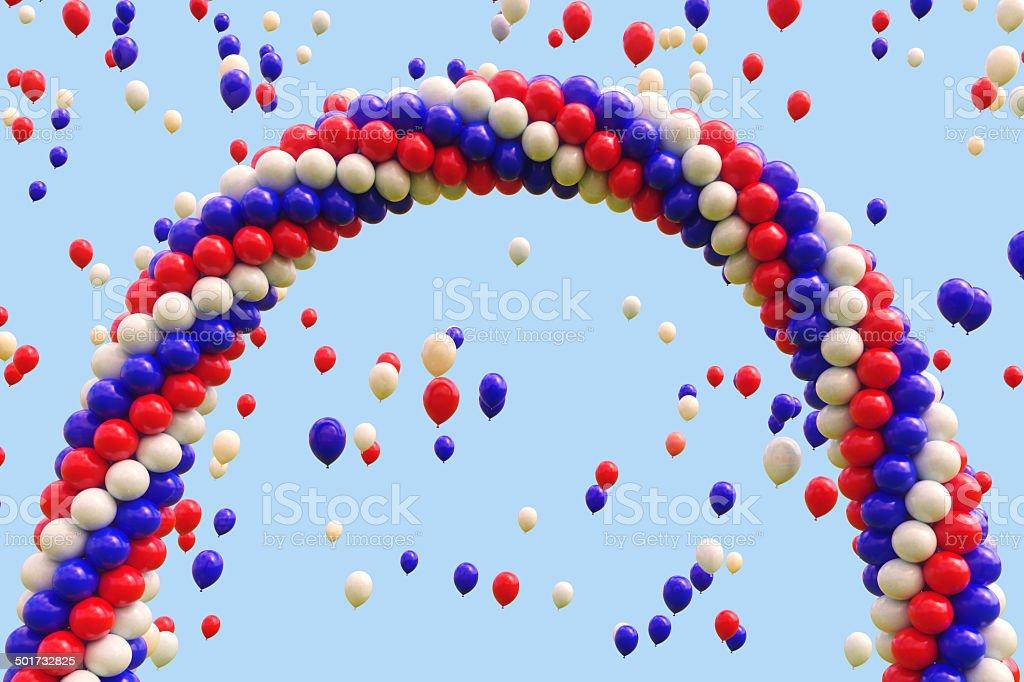 Balloons Arch 3 stock photo