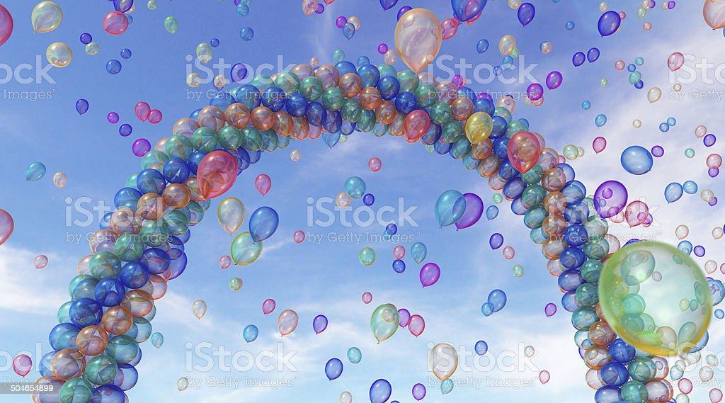 Balloons Arch 4 stock photo