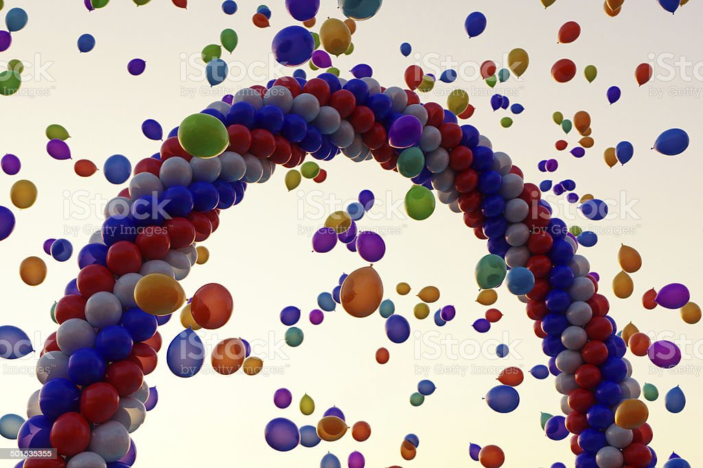Balloons Arch stock photo