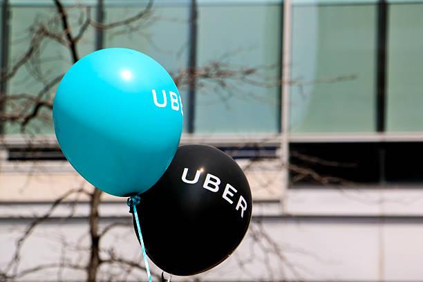 balloons at a pro uber rally - brand name zdjęcia i obrazy z banku zdjęć