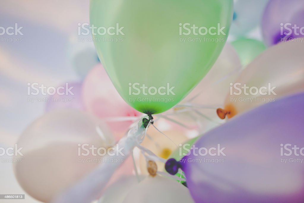 Balloons at sunset royalty-free stock photo