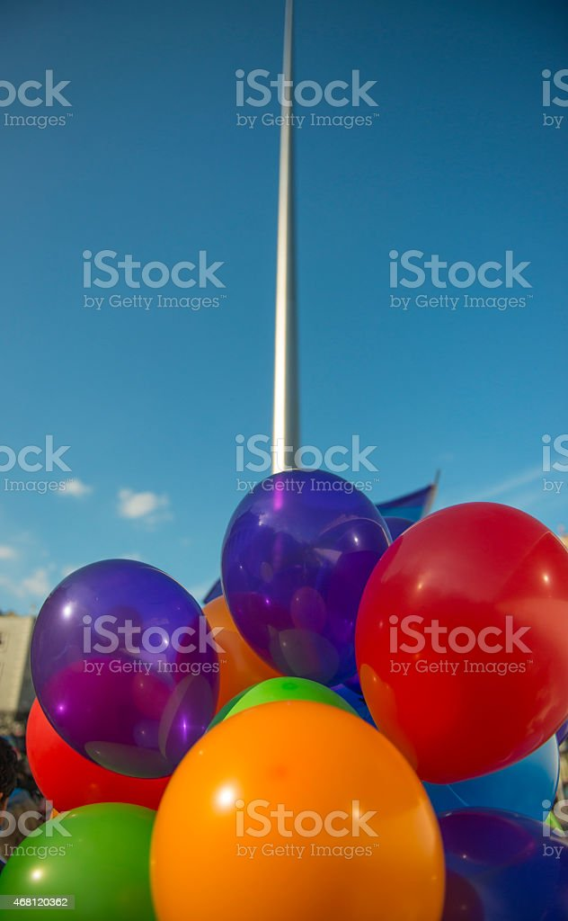 Balloons at the Spire royalty-free stock photo