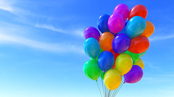 Balloons B08 stock photo