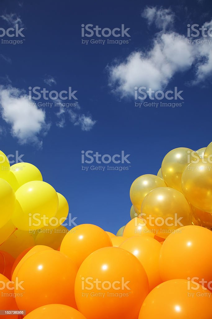 Balloons background stock photo