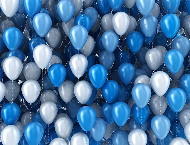 balloons background - balloon stock photos and pictures