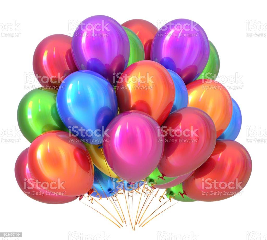 Doğum günü partisi dekorasyon çok renkli balonlar. Balon Grup - Royalty-free 2019 Stok görsel