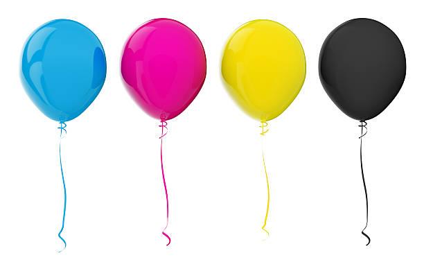 Ballons. CMYK-Farben – Foto