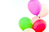 Color balloon with white background